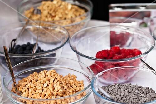 Various ingredients for yogurts