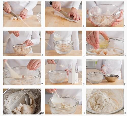 Fish dumplings being prepared