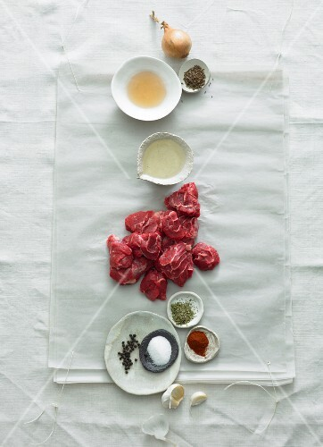 Ingredients for Viennese goulash