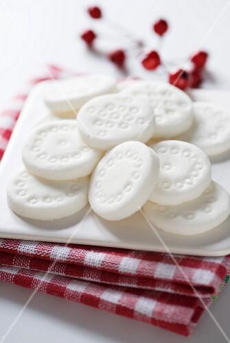Homemade peppermint creams
