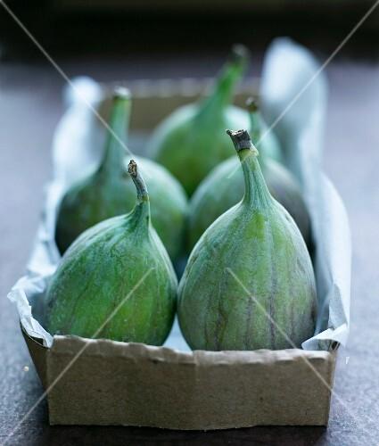 Fresh figs in a paper box