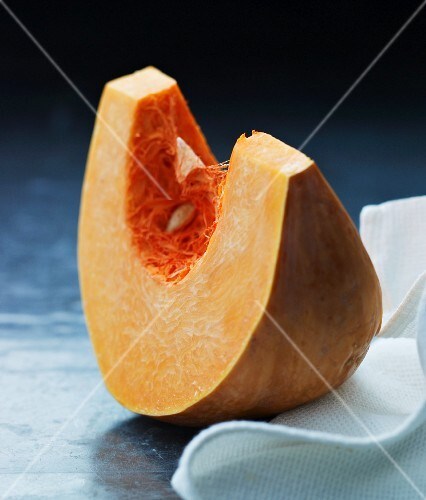 A wedge of pumpkin