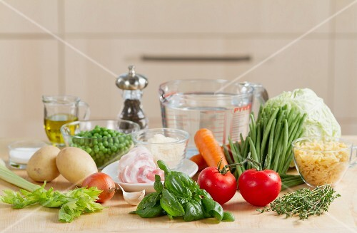 Ingredients for minestrone