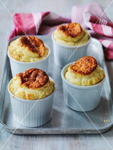 English cheese souffles