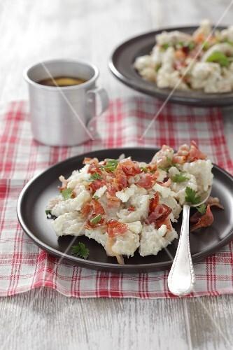 Halusky (potato dumpling with bacon, Slovakia)