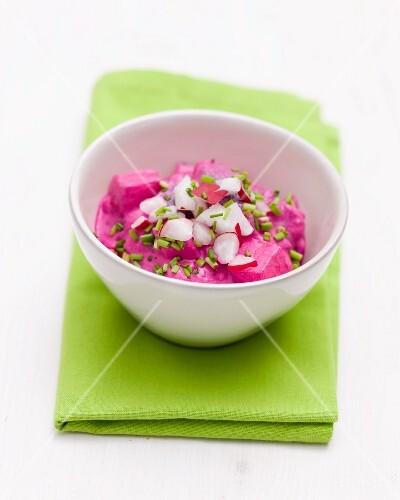 Herring salad with radishes