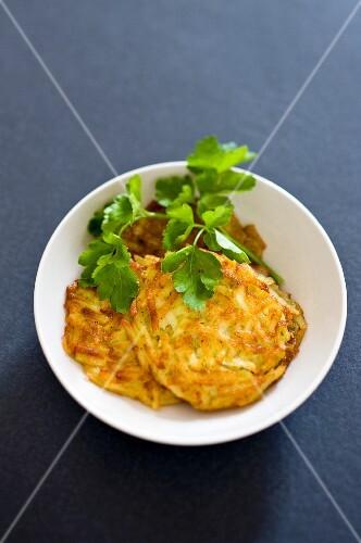 Potato cakes with parsley