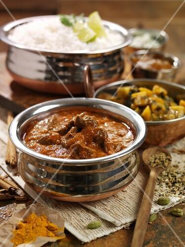 Lamb rogan josh (lamb curry, India)