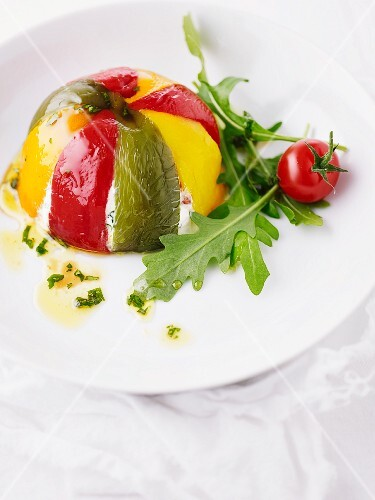 Pepper timbale