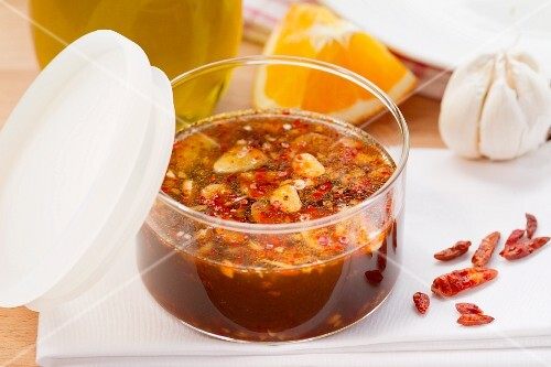 Chilli and orange marinade