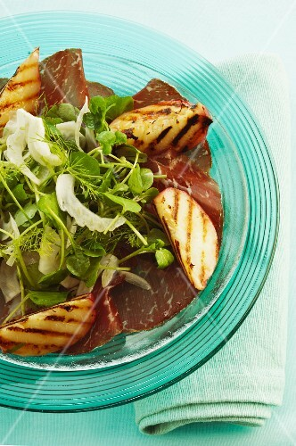 Bresaola with grilled nectarines