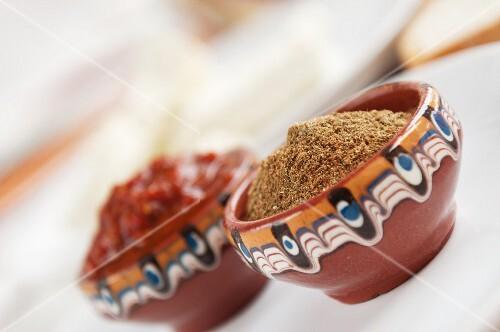 Savory and Ljutenica (pepper-tomato relish, Bulgaria)