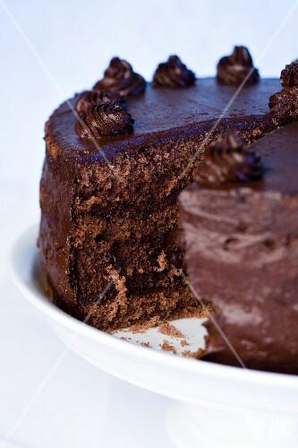 Chocolate cake (detail)