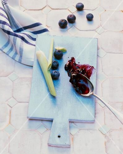 Blueberry and lemongrass jam