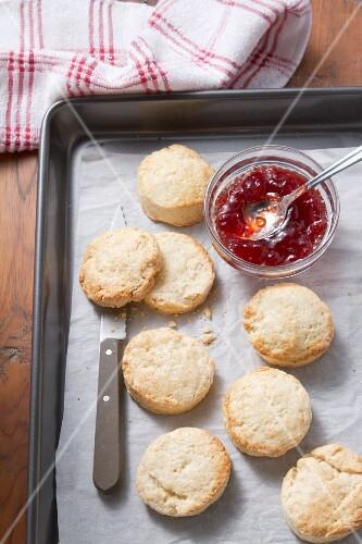 Scones with jam