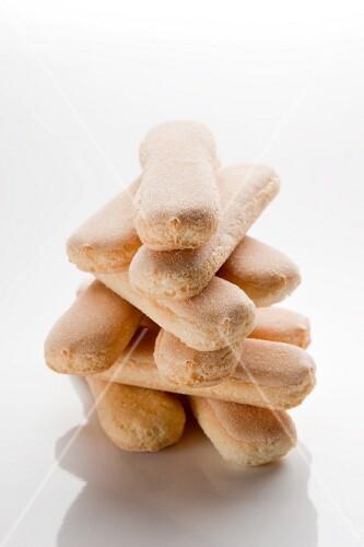 A stack of sponge fingers