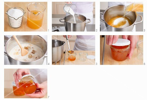 Marmalade being made