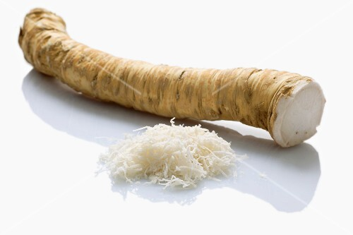 Horseradish, whole and grated