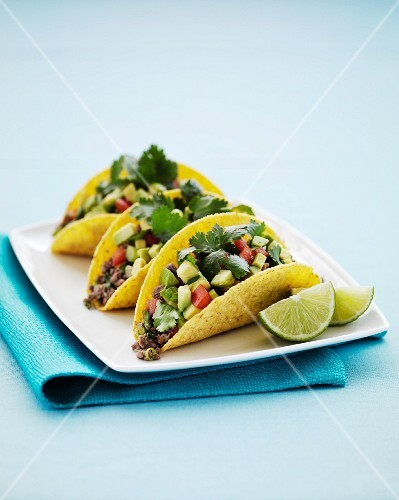 Tacos filled with beef