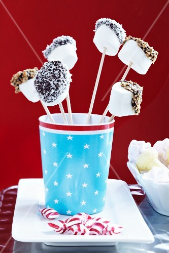 Decorated marshmallow sticks
