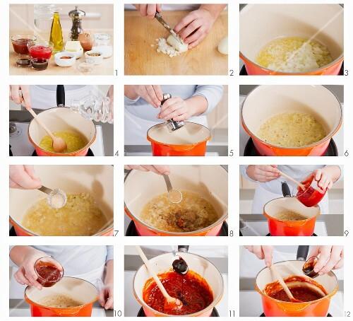 Grillsauce zubereiten
