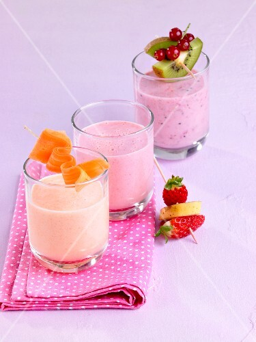 Three different milkshakes