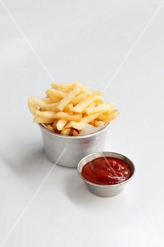 Chips and ketchup