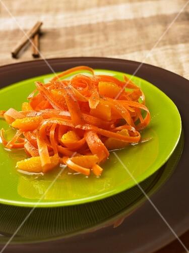 Carrot salad with orange
