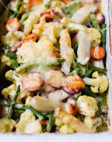 Vegetables with Bechamel sauce