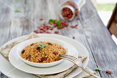 Beans and rice from the Caribbean