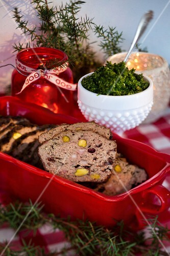 Pheasant terrine for Christmas dinner