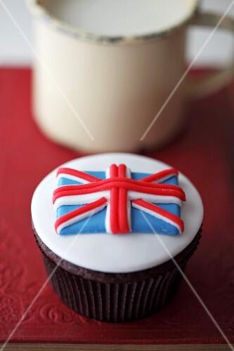 A Union Jack cupcake (Great Britain)