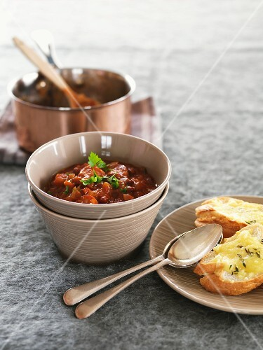 Spicy bean and sausage stew