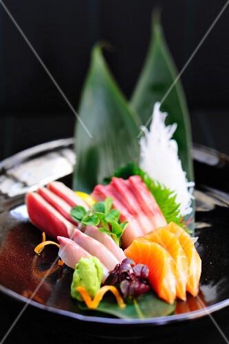 Raw fish sashimi