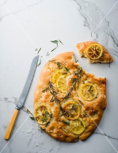 Lemon and rosemary focaccia