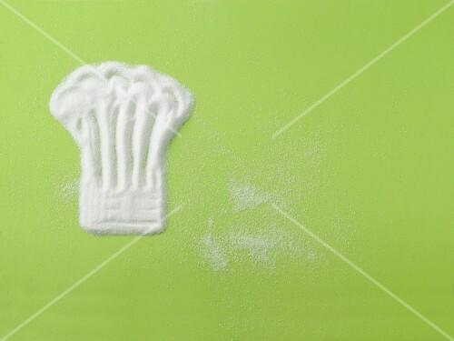 Chef's hat-shaped sugar