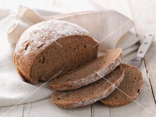 Perennial rye bread, sliced