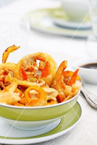 Pumpkin tempura