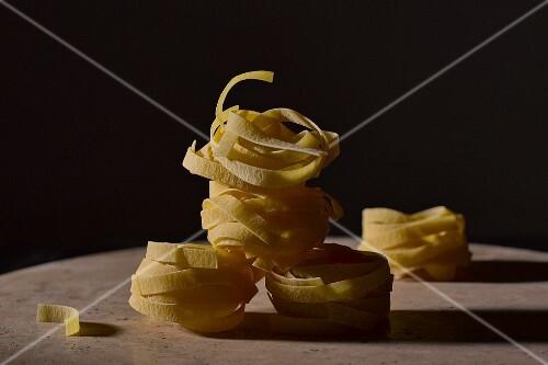 Dried tagliatelle