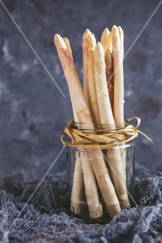 White asparagus in a jar