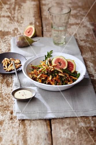 Herby spicy quinoa salad