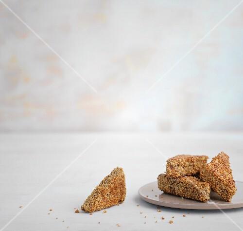 Crispy breaded tofu corners