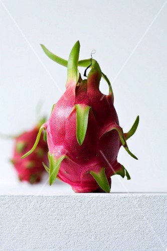 A pink pitahaya (dragon fruit)