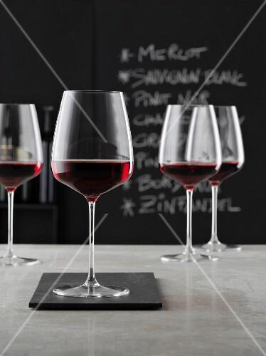 Glasses of Bordeaux