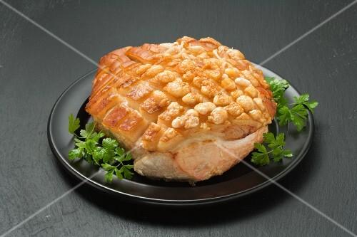Roast pork with crackling
