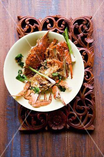 Bpuh Phong Carri (crab with Indian curry)
