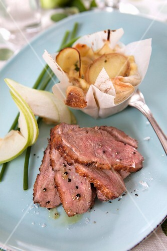 Duck breast with a potato cake