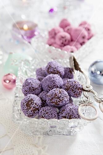 Homemade Christmas confectionery