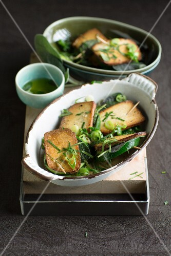 Courgette saltimbocca