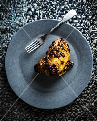 Roasted chicken breast in preserved lemons with eas-el-hanout